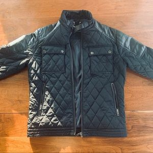 ZARA Black Padded Bomber Jacket